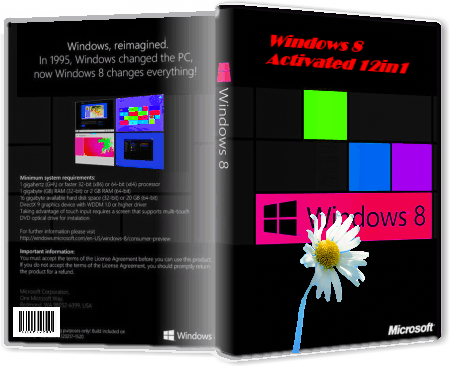 Windows 8 Activated x86/x64 by Bukmop v6.2 9200.16384 x86 x64  [2012]