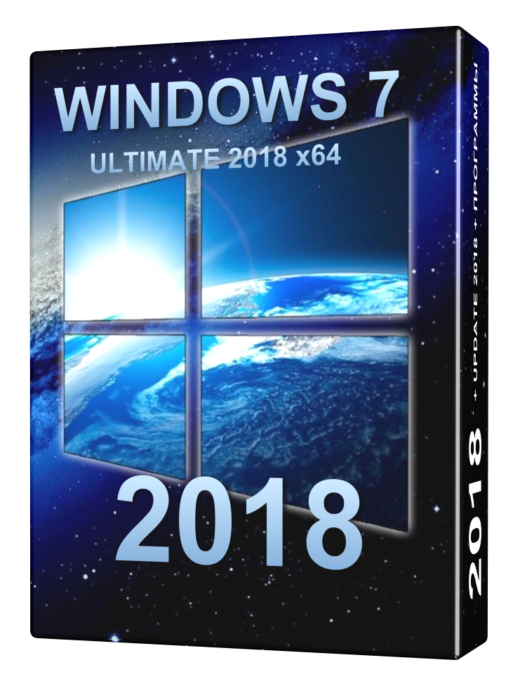 Windows 7 ULTIMATE 2018 (Update) + Basic soft x64