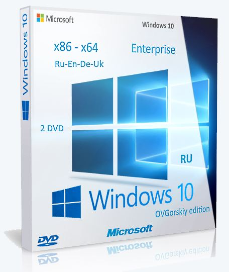 Microsoft® Windows® 10 Ent 1803 RS4 x86-x64 RU-en-de-uk by OVGorskiy® 05.2018 2DVD [Multi/Ru]
